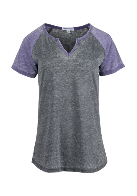 Women's Notch Neck Baseball Tee