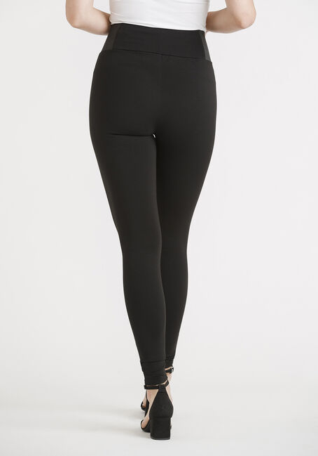 Women's Side Elastic Legging, BLACK, hi-res