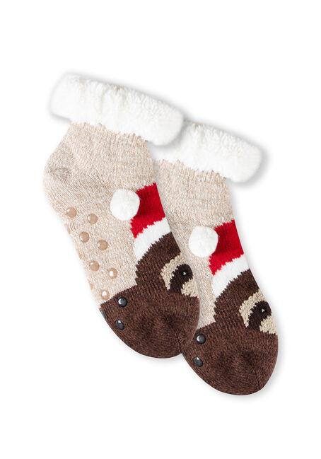 Women's Santa Sloth Slipper Socks