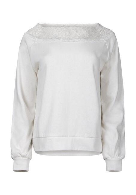 Women's Lace Trim Fleece