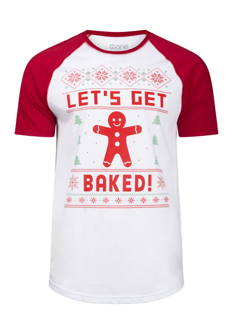 Men's Holiday Gingerbread Tee