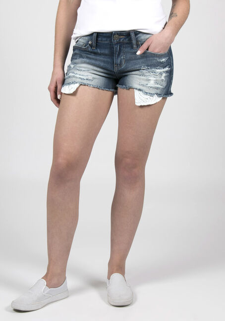 Ladies' Curvy Destroyed Short