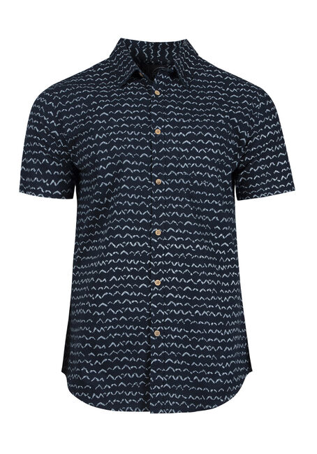 Men's Wave Print Shirt