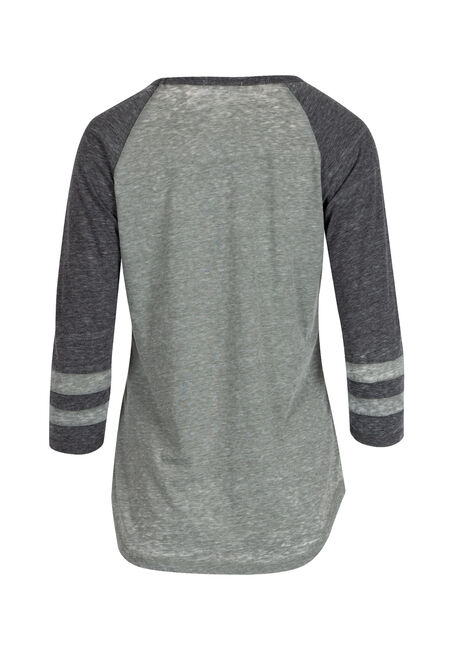 Ladies' Burnout Football Tee, SAGE LEAF/BLACK, hi-res