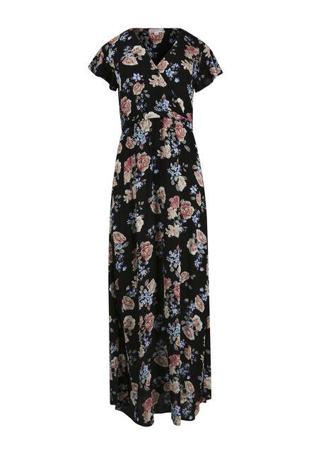 Women's Floral Wrap Maxi Dress