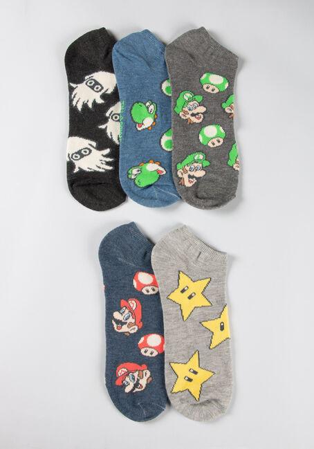Men's 5 Pair Mario Socks