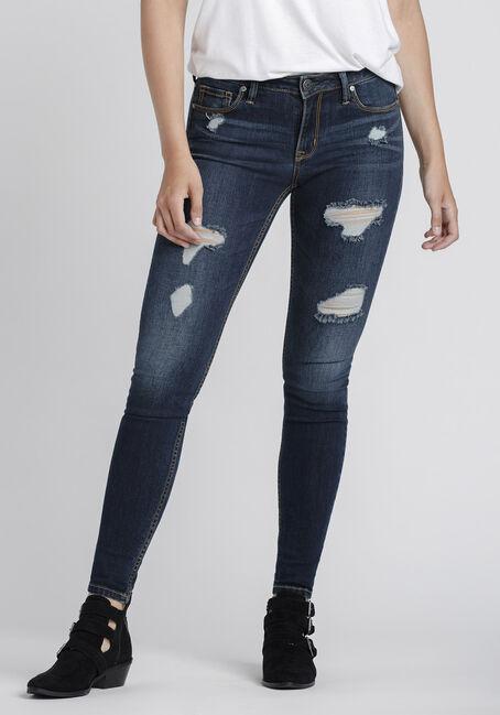 Women's Dark Distressed Skinny Jeans