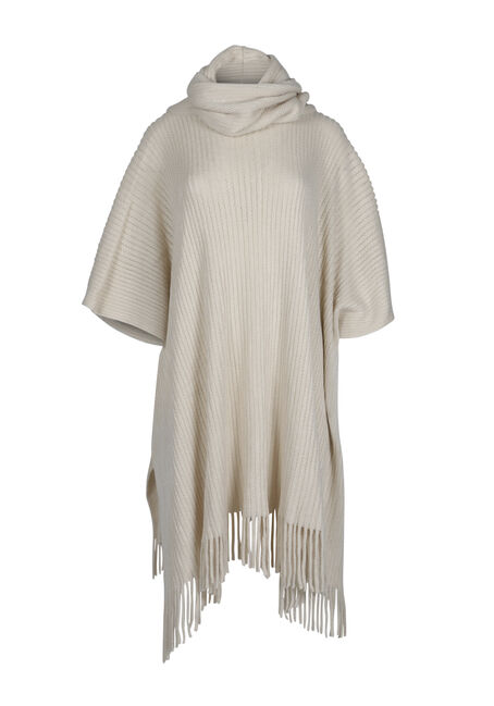 Ladies' Fringe Trim Poncho