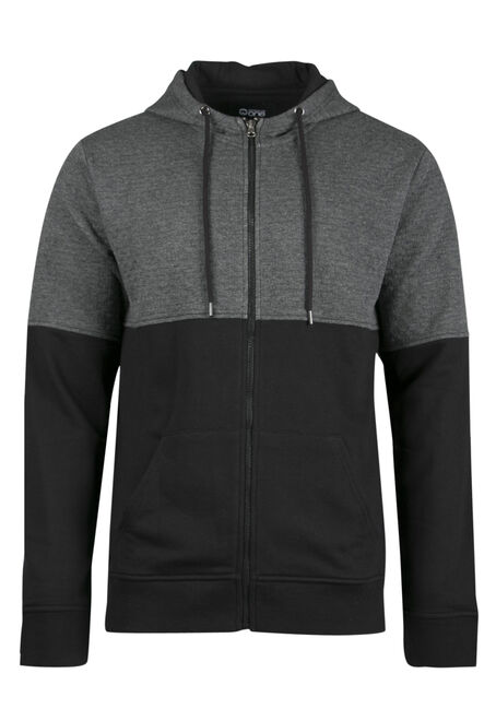 Men's Textured Colour Block Hoodie