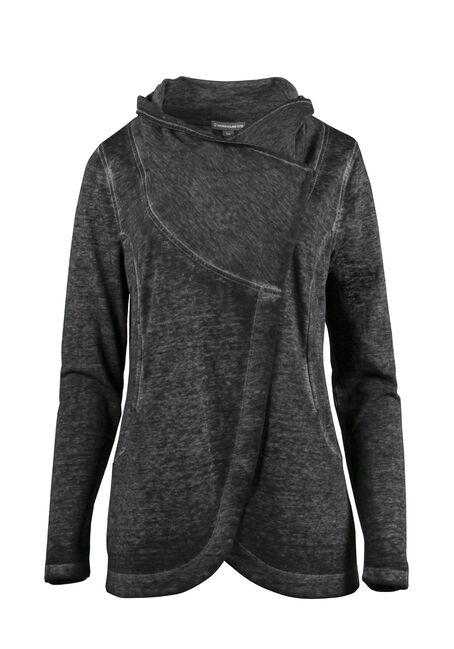 Ladies' Burnout Fleece Wrap
