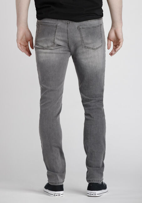 Men's Stone Grey Skinny Jeans, COLOUR, hi-res