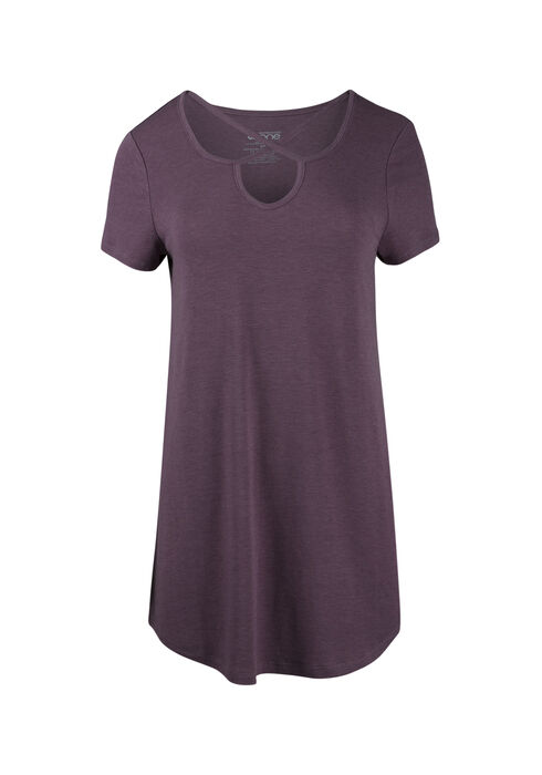 Ladies' Cage Neck Tunic Tee, TULIP, hi-res