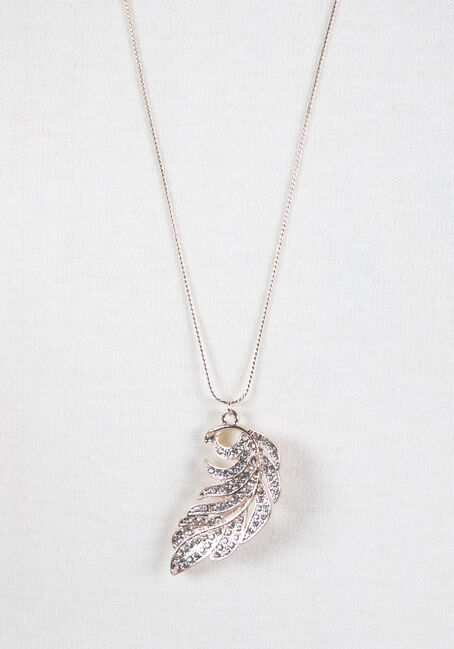 Ladies' Feather Necklace, ROSE GOLD, hi-res