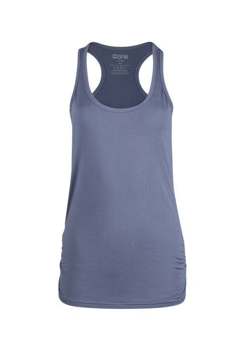 Ladies' Super Soft Ruched Tank, PERIWINKLE, hi-res