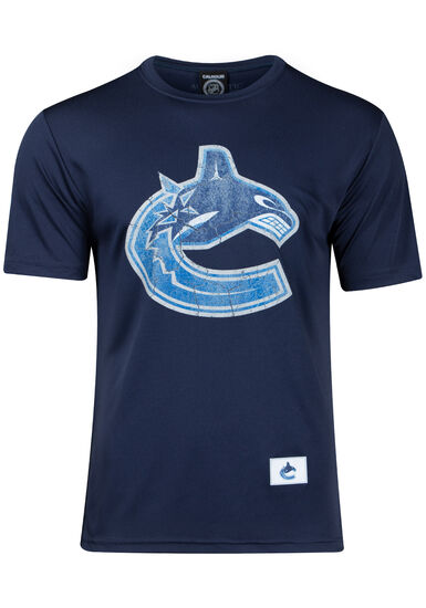 Men's NHL Canucks Tee, NAVY, hi-res