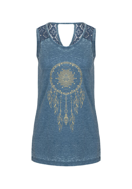 Women's Dreamcatcher Lace Insert Tank