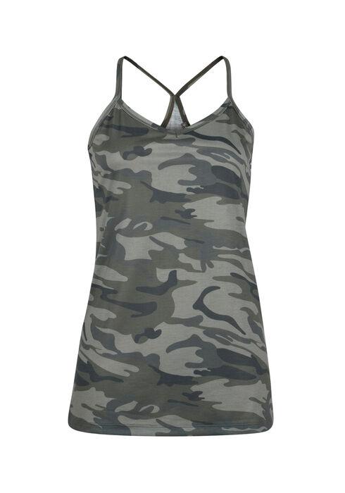 Ladies' Camo Tank, OLIVE, hi-res