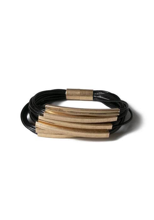 Women's Multi Bars Magnetic Bracelet, GOLD, hi-res
