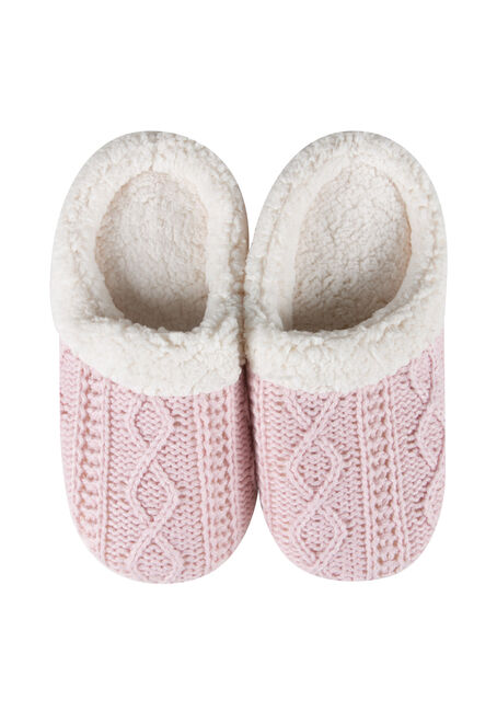 Ladies' Cable Knit Slippers