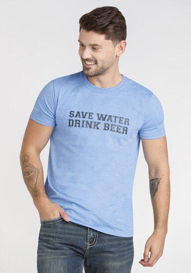 Men's Save Water Tee, HEATHER ROYAL, hi-res