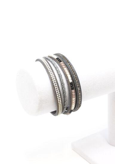 Women's Magnetic Bracelet, GREY, hi-res