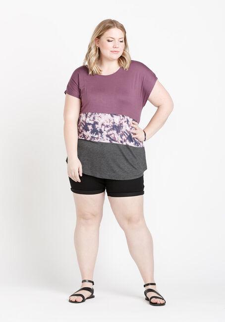 Women's Colour Block Top, WILD IRIS, hi-res