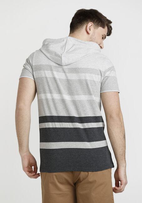 Men's Short Sleeve Hooded Tee, GREY, hi-res