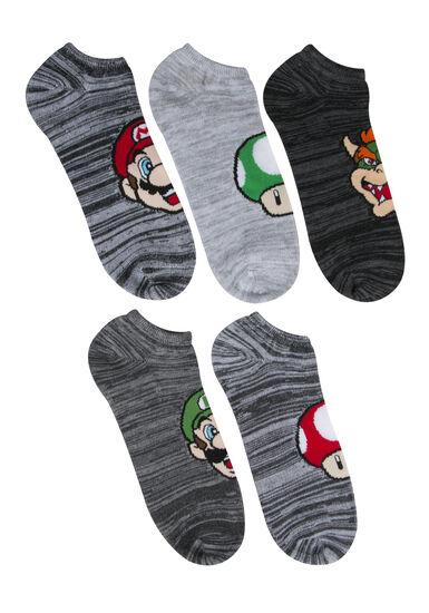 Men's 5 Pair Mario Socks, , hi-res