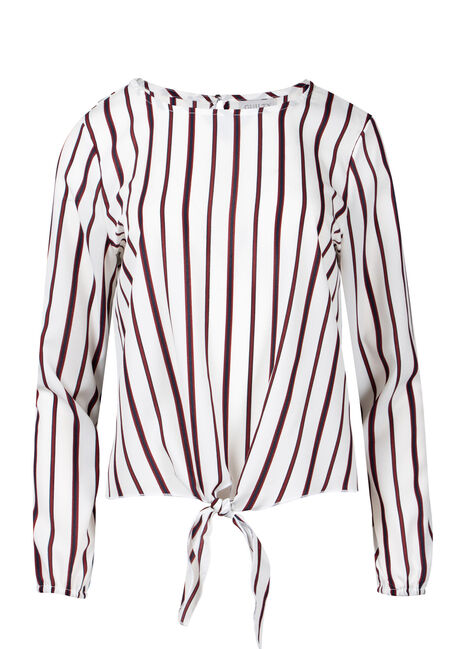 Women's Stripe Tie Blouse