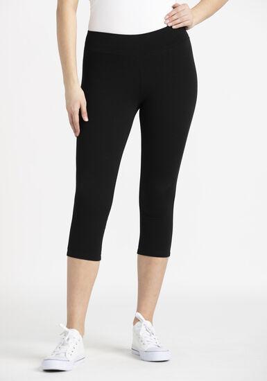 Women's Capri Legging, BLACK, hi-res