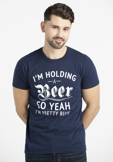 Men's I'm Holding A Beer Tee