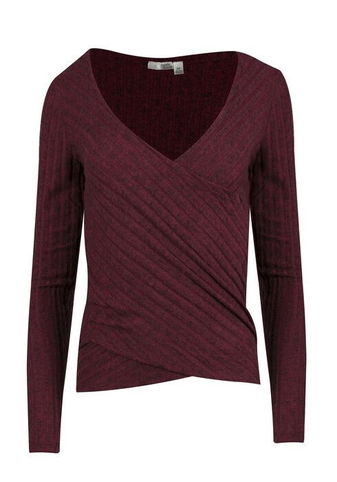 Ladies' Wrap Top, WINDSOR WINE, hi-res
