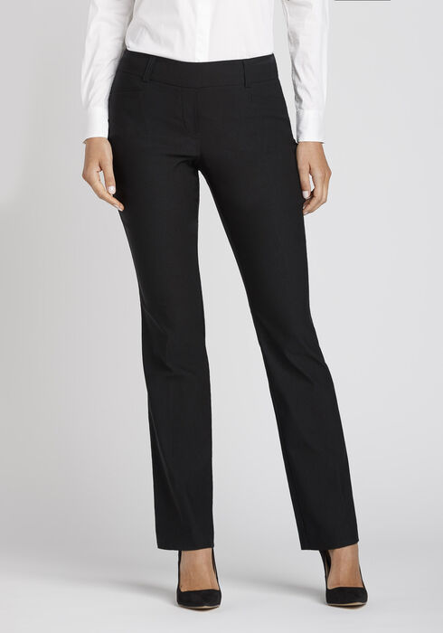 Women's High Rise Straight Dress Pant, BLACK, hi-res