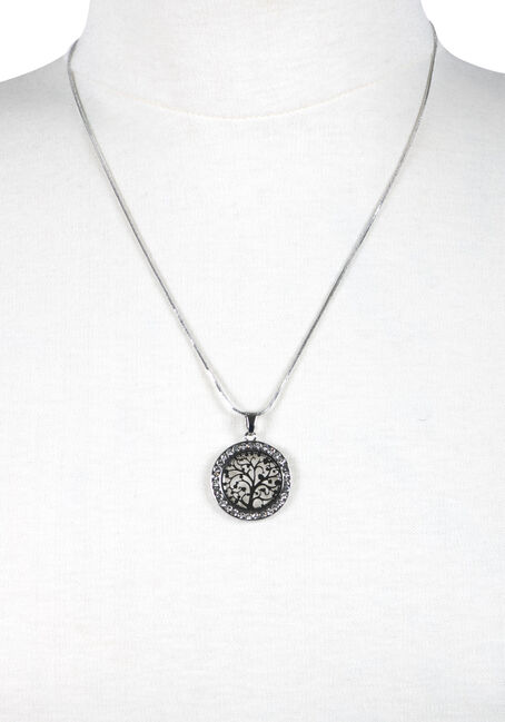 Ladies' Tree Necklace, SILVER, hi-res