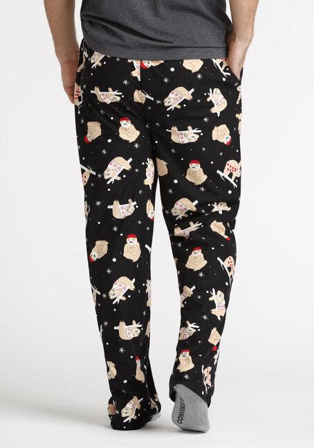 Men's Sloth Sleep Pant, BLACK, hi-res
