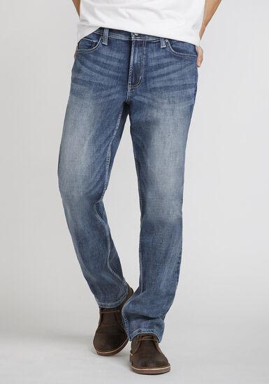 Men's Light Wash Athletic Jeans, LIGHT WASH, hi-res