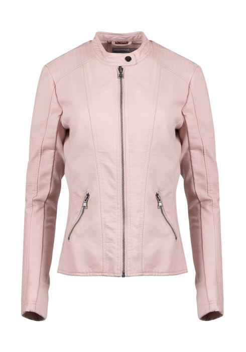 Ladies' Moto Jacket, PINK, hi-res