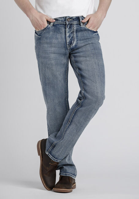 Men's Light Wash Slim Straight Jeans