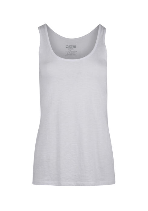 Ladies' Scoop Neck Tank, WHITE, hi-res