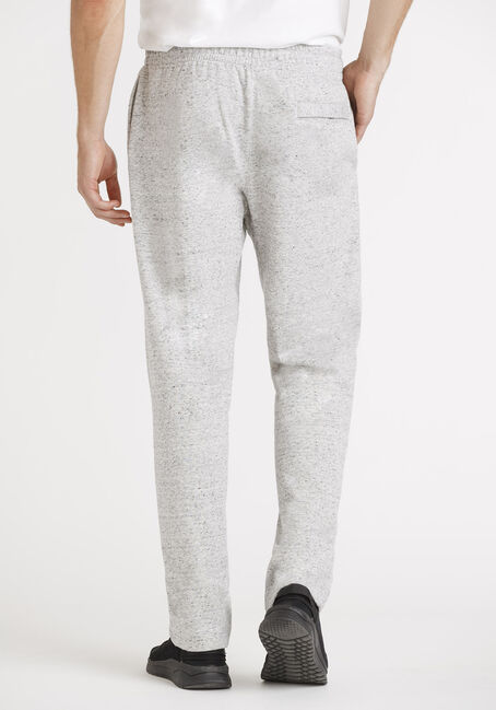 Men's Open Cuff Fleece Pant, HEATHER GREY, hi-res