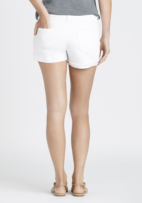 Ladies' Not-So-Short Short, WHITE, hi-res