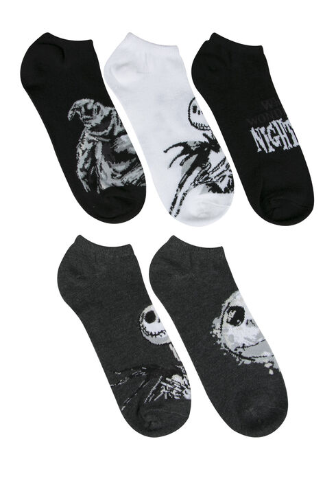Men's 5 Pair Nightmare Socks, GREY, hi-res