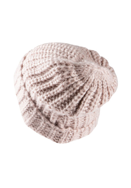 Women's Chunky Knit Hat, PINK, hi-res