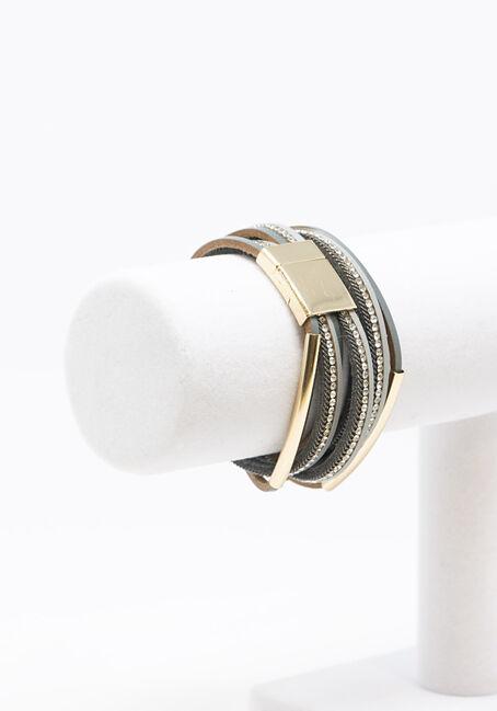 Women's Magnetic Wrap Bracelet, MIXED METALS, hi-res