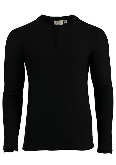 Men's Sweater Knit Henley Top