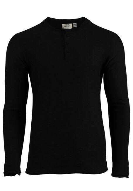 Men's Sweater Knit Henley Top