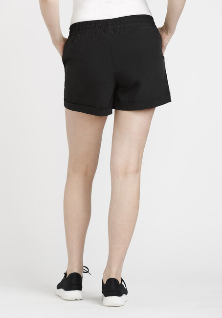 Women's Drawstring Short, BLACK, hi-res