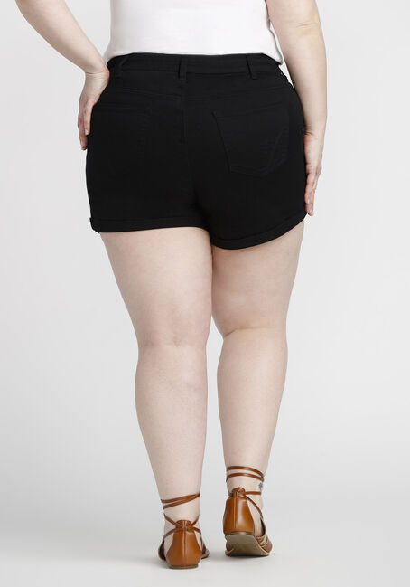 Women's Plus Size Not-so-short Short, BLACK, hi-res