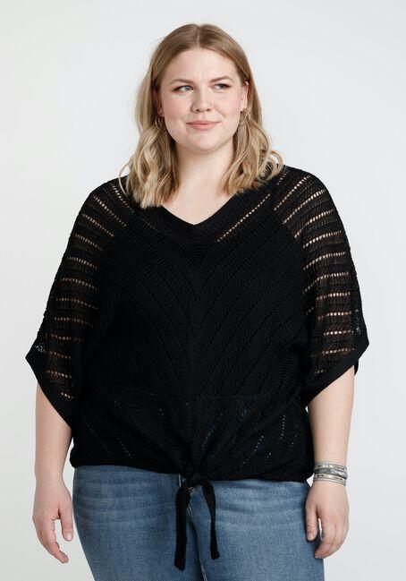 Women's Tie Front Sweater