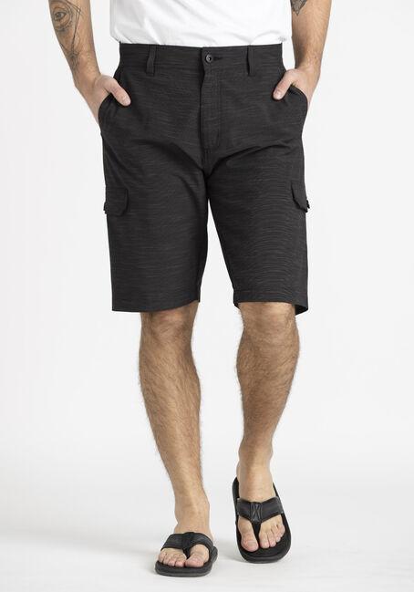 Men's Textured Cargo Hybrid Shorts